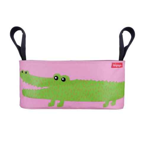 Image of Convenient Stroller Organiser Animal Graphic Stroller Accessory Secure Velcro Storage Pram Organiser