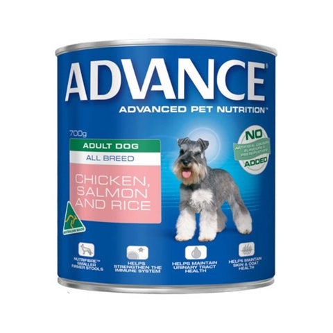 Image of Advance Adult Wet Dog Food Chicken Salmon & Rice 12 x 700gms Everyday Pets