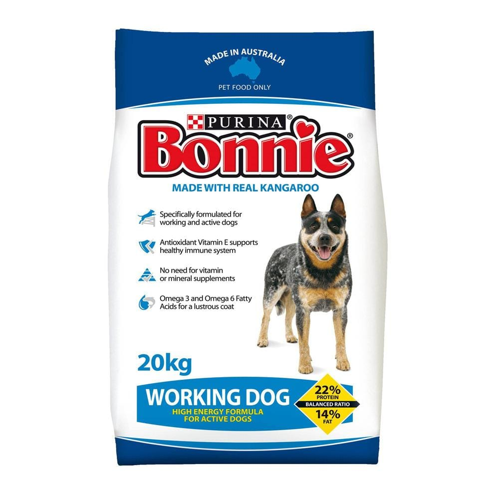 Bonnie Working Dog Dog Food 20kg Everyday Pets