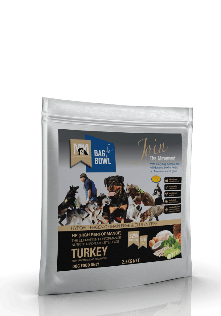 Meals For Mutts HP Grain Free (High Performance) Holistic Turkey 2.5kg Everyday Pets
