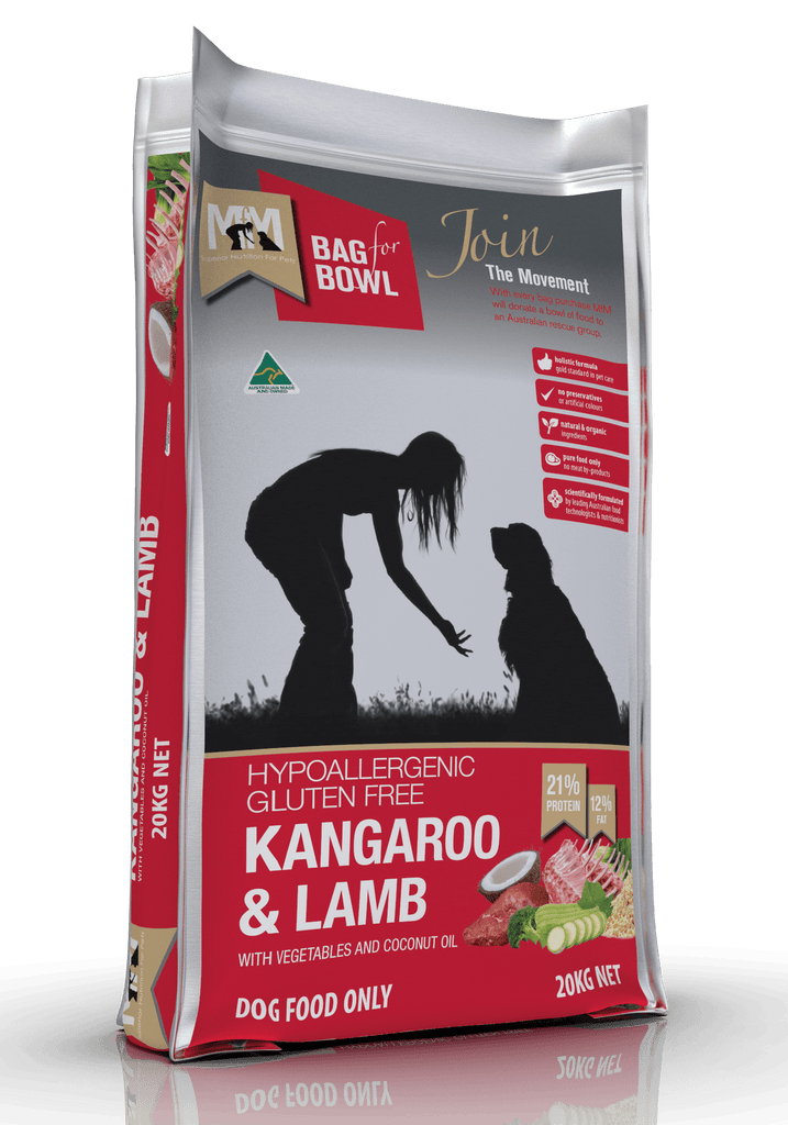 Meals For Mutts Kangaroo & Lamb Dog Food 20kg Everyday Pets