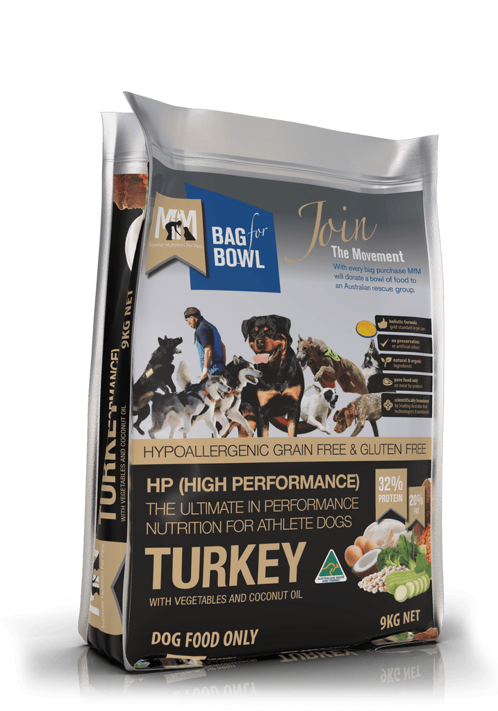Meals For Mutts HP Grain Free (High Performance) Holistic Turkey 9kg Everyday Pets