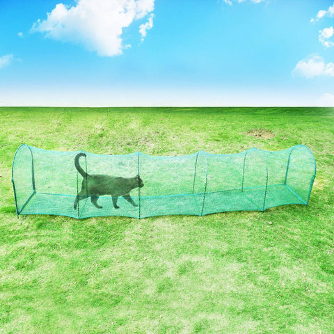 Image of Deluxe Outdoor Foldable Cat Walk & Run Tunnel Grass Friendly Everyday Pets