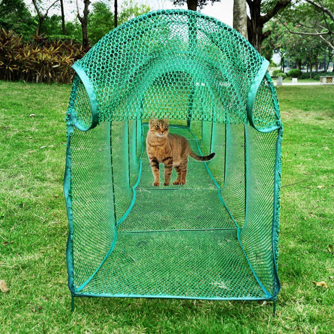 Image of Deluxe Outdoor Foldable Cat Walk & Run Tunnel MAximum Visibility and Ventilation Everyday Pets