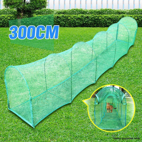 Image of Deluxe Outdoor Foldable Cat Walk & Run Tunnel Everyday Pets