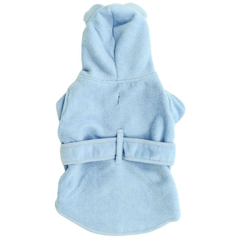 Image of Big-Little-Dogs-Dog-Bath-Robe-Baby-Blues-Front