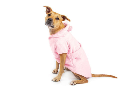 Image of Big-Little-Dogs-Dog-Bath-Robe-Pretty-In-Pink-Kiba-4