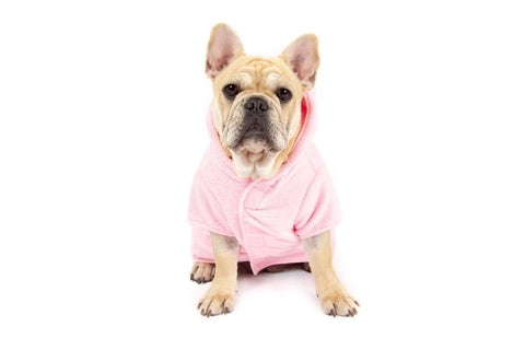 Image of Big-Little-Dogs-Dog-Bath-Robe-Pretty-In-Pink-Lucy-1