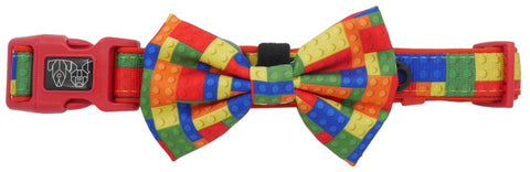 Image of Big-Little-Dogs-Dog-Collar-and-Bow-Blocktastic-1