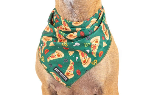 Image of Big-Little-Dogs-Dog-Cooling-Bandana-Pupperoni-Pizza-Close-Up