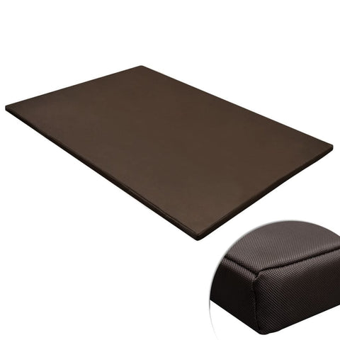 Image of Dog Mat Flat Rectangular Brown