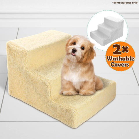 Image of Dog Steps Deluxe With Two Washable Covers 3 Steps