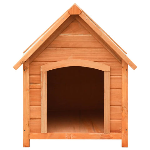 Dog House Solid Pine & Fir Wood 72x85x82 cm Strong and Durable Outdoor Dog Kennel Everyday Pets