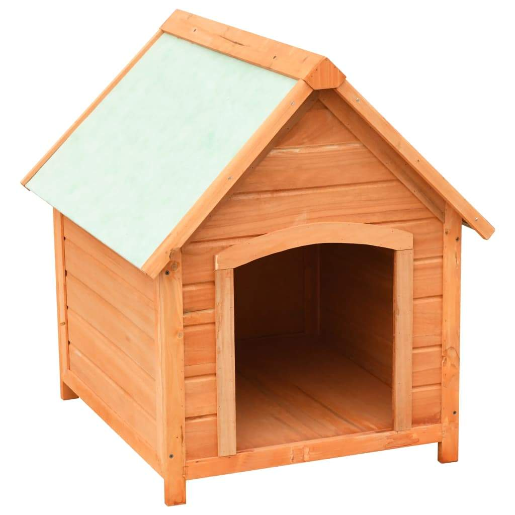 Dog House Solid Pine & Fir Wood 72x85x82 cm Solid Pine Wooden Frame Everyday Pets