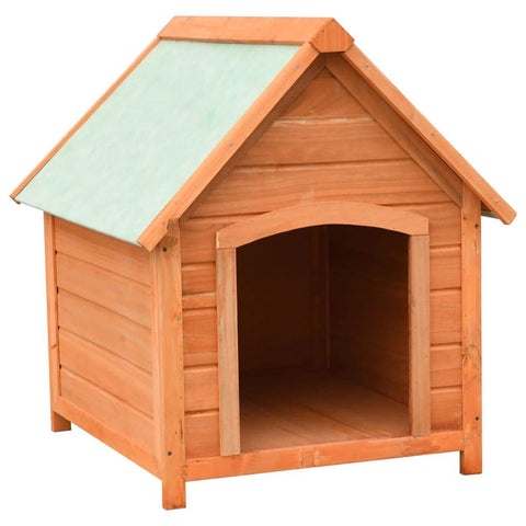 Image of Dog House Solid Pine & Fir Wood 72x85x82 cm Everyday Pets