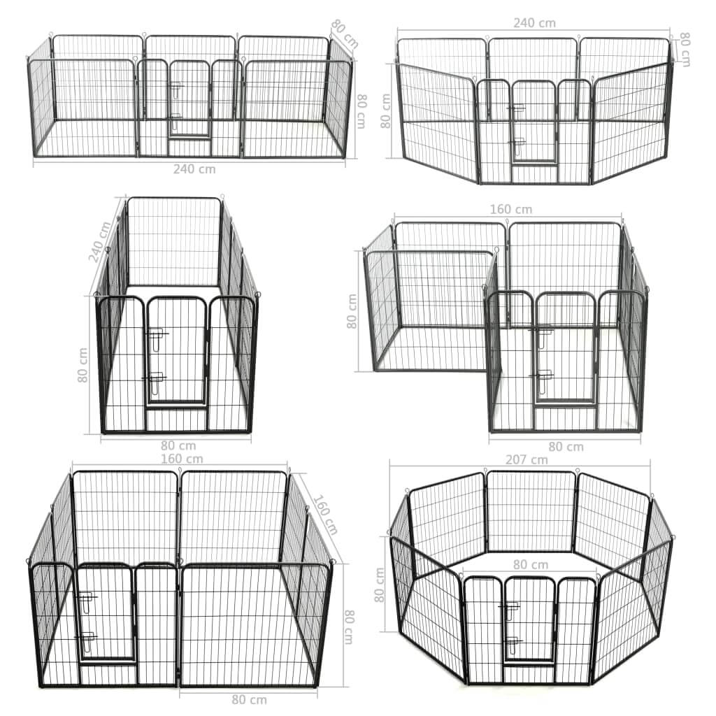 Dog Playpen 8 Panels Dog Measurement and Diameter Everyday Pets