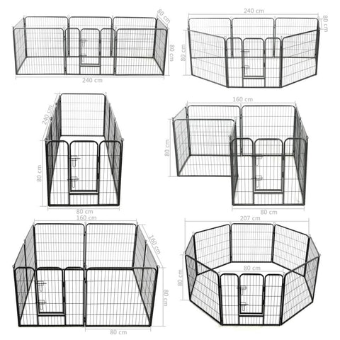 Image of Dog Playpen 8 Panels Dog Measurement and Diameter Everyday Pets