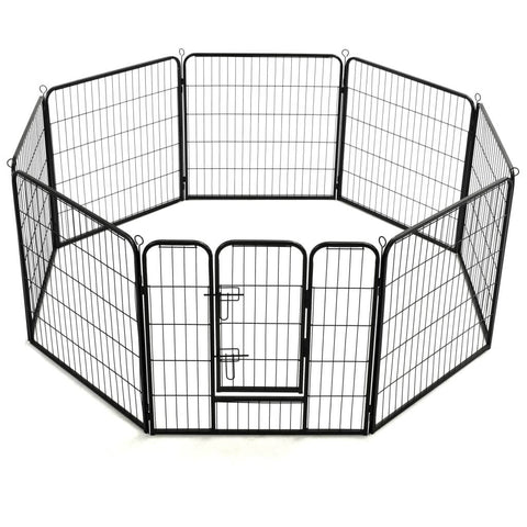 Image of Dog Playpen 8 Panels  Outdoor and Indoor Use Everyday Pets