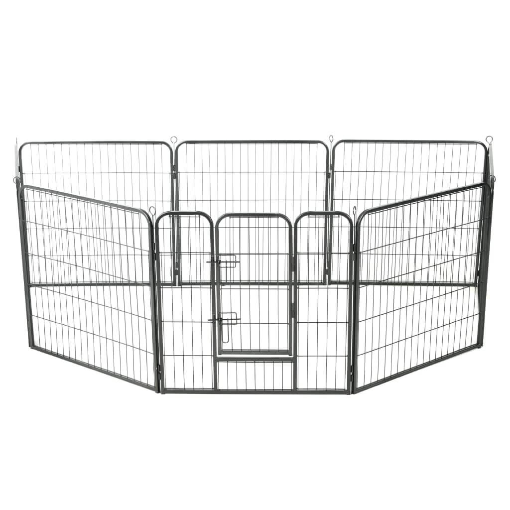 Dog Playpen 8 Panels Powder-Coated Steel Everyday Pets