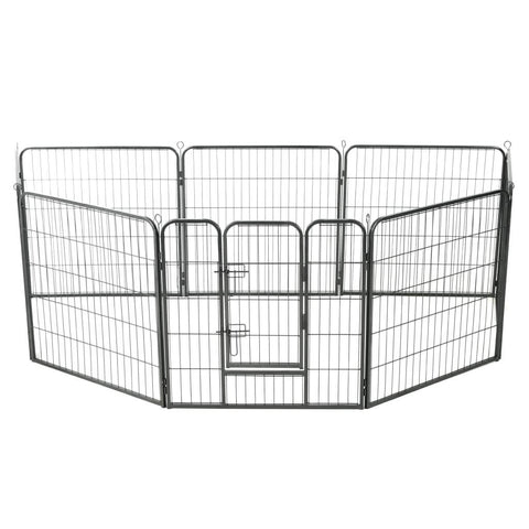 Image of Dog Playpen 8 Panels Powder-Coated Steel Everyday Pets