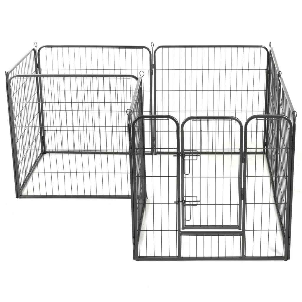 Dog Playpen 8 Panels Weather-Resistant Everyday Pets