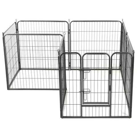 Image of Dog Playpen 8 Panels Weather-Resistant Everyday Pets