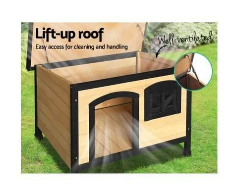 Image of Dog Puppy Home with Lift Up Roof for Easy Cleaning