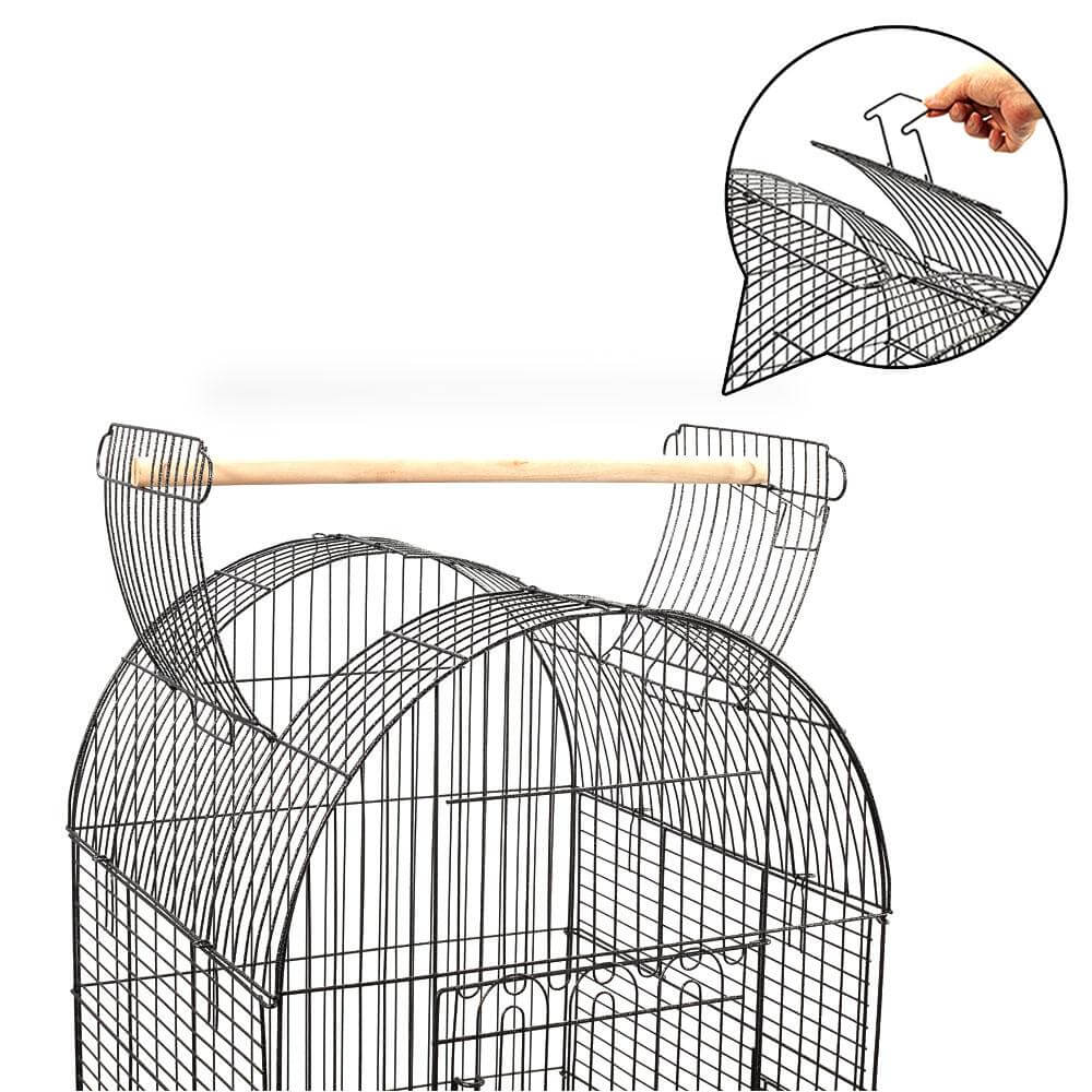 Dome Shape Open Roof Design Wrought Iron Bird Cage