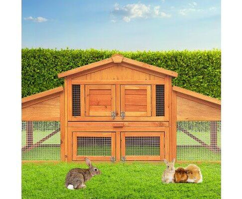 Image of Double Storey Pet Coop Waterproof Anti-Termite 180 x 52 x 72cm