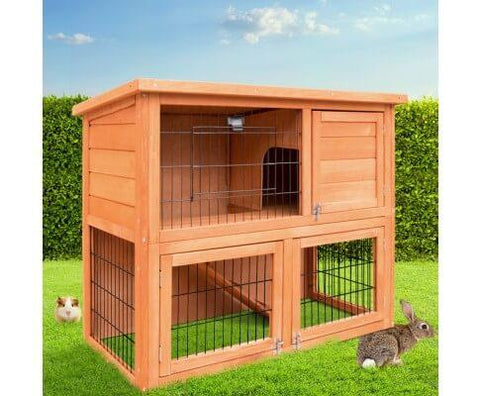 Image of Double Storey Rabbit Small Pet Animals Hutch