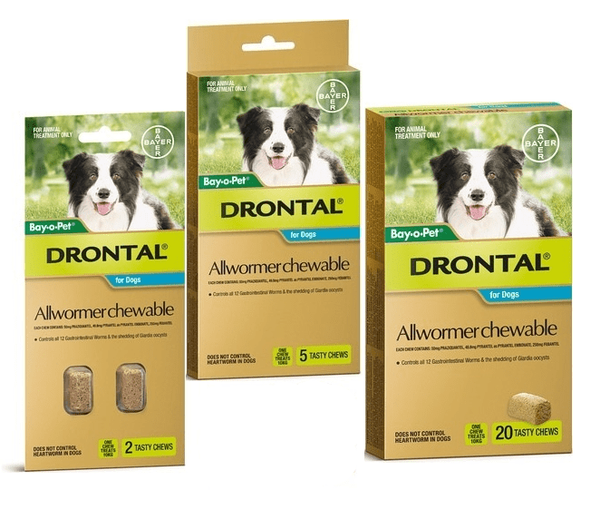 Drontal Dog Worming Chewables For Dogs