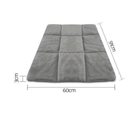 Image of i.Pet Metal Collapsible Pet Cage Cushions Grey Durable Pet 36 inch Cage Pad Dimension and Measurement