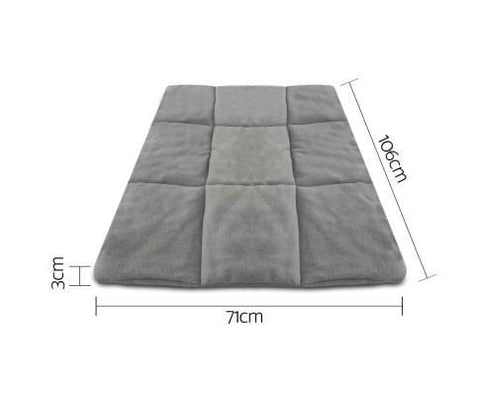 Image of i.Pet Metal Collapsible Pet Cage Cushions Grey Durable Pet 42 inch Cage Pad Dimension