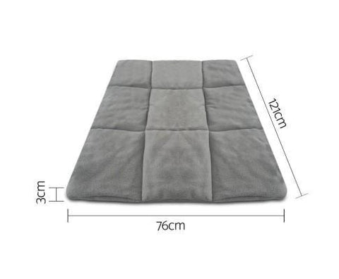 Image of i.Pet Metal Collapsible Pet Cage Cushions Grey Durable Pet 48 inch Cage Pad Dimension