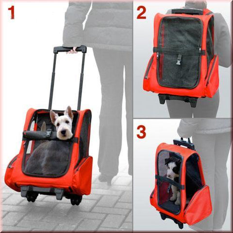 Image of Durable Red Pet Luggage Carrier Mesh  Panels