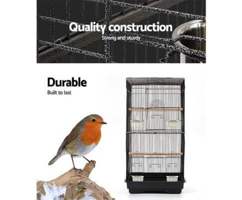 Image of Durable Wrought Iron Bird Cage Aviary