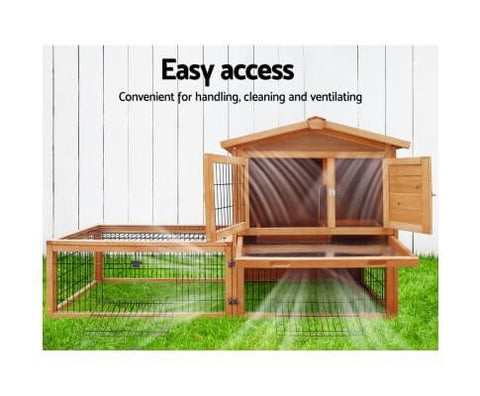 Image of Easy Access 2 Story Outdoor Pet Hutch