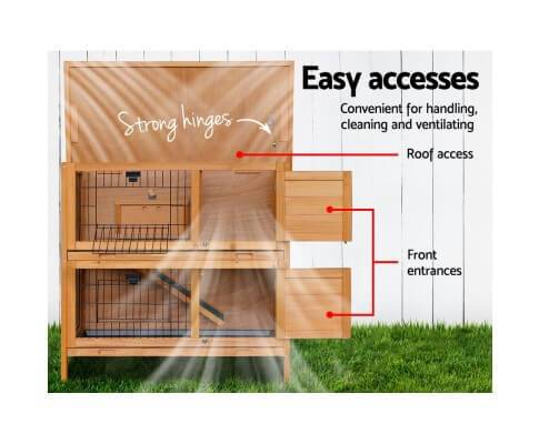 Easy Access Door 2 Storey Pet Hutch