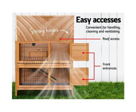 Image of Easy Access Door 2 Storey Pet Hutch