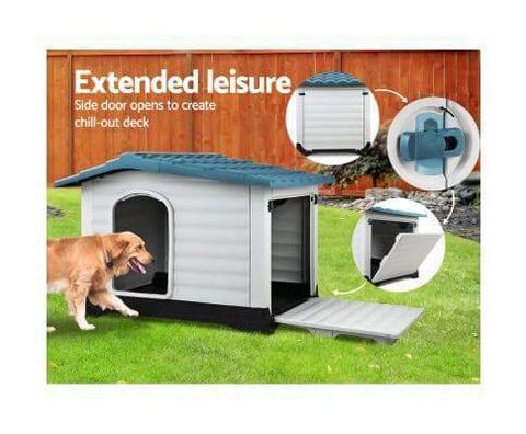 Image of Extendable Side Deck High Quality Dog Kennel