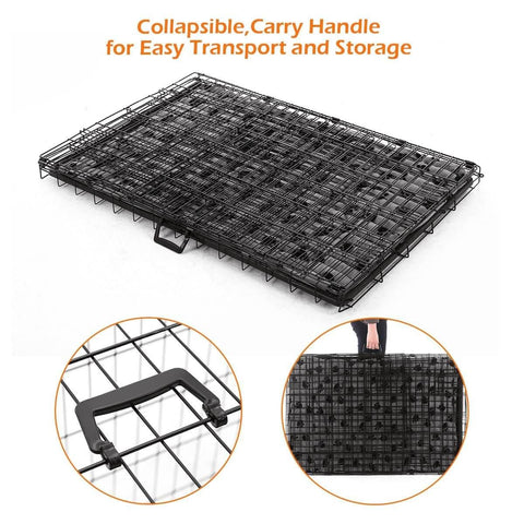 Image of Extra Large 42  Inch Collapsible Dog Crate Collapsible, Carry Handle For Easy Transport and Storage