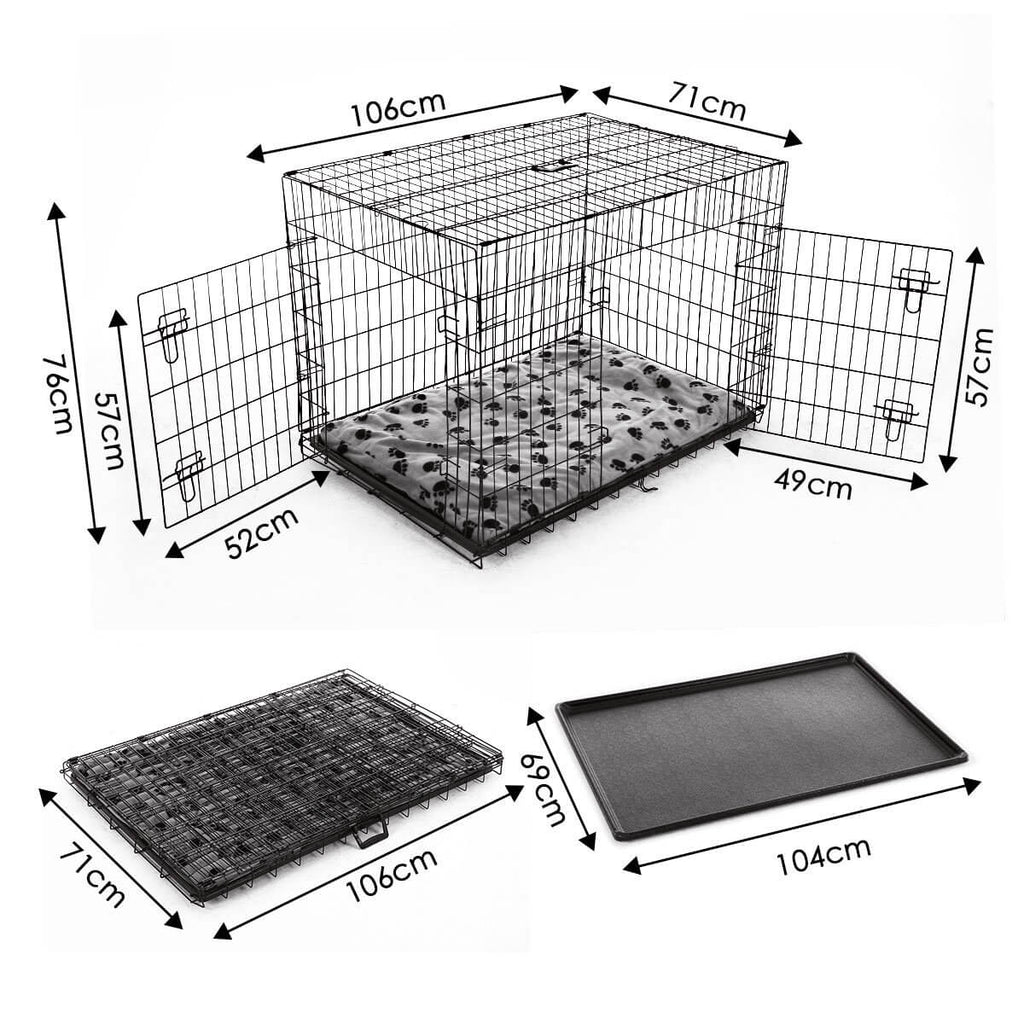Extra Large 42  Inch Collapsible Dog Crate Dimension and Measurement