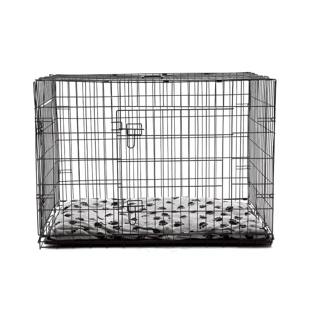 Extra Large 42  Inch Collapsible Dog Crate Front with Comfortable Pet Bed
