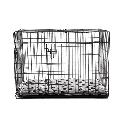 Image of Extra Large 42  Inch Collapsible Dog Crate Front with Comfortable Pet Bed