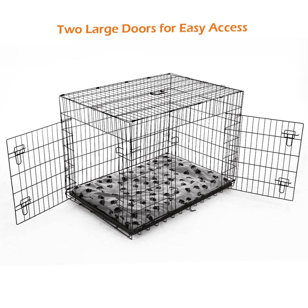 Extra Large 42  Inch Collapsible Dog Crate Two Large Door