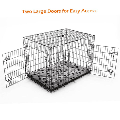 Image of Extra Large 42  Inch Collapsible Dog Crate Two Large Door