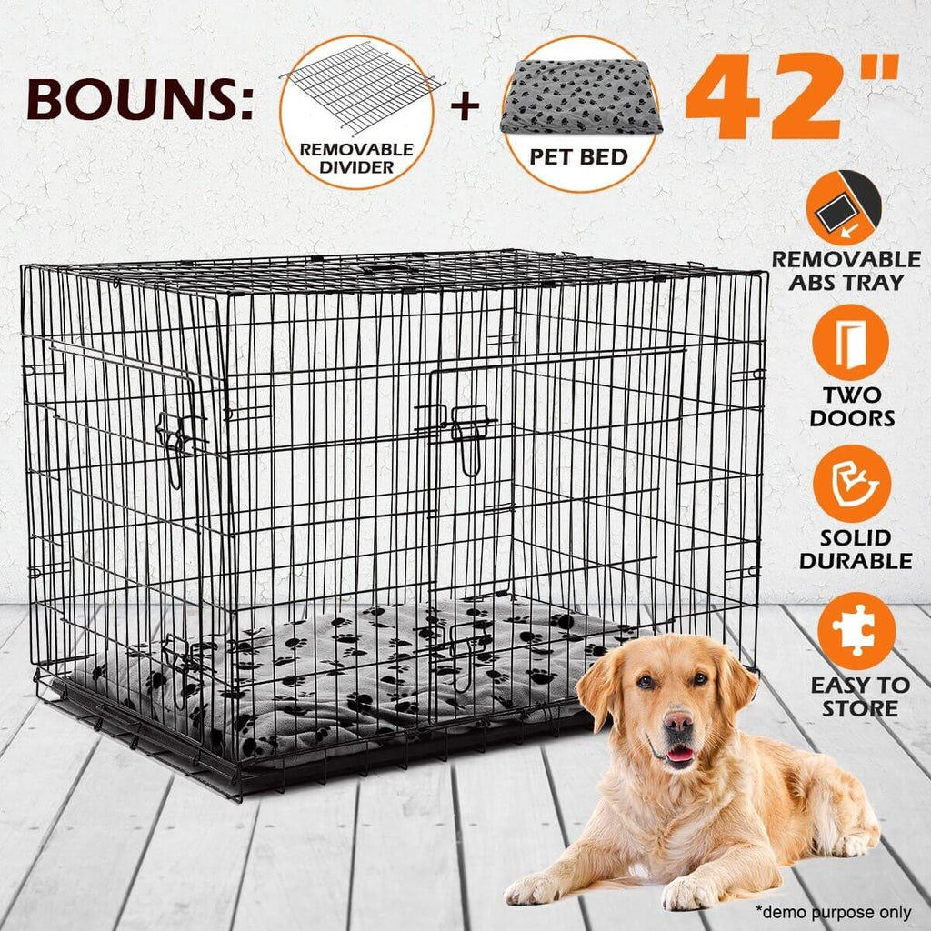 Extra Large 42  Inch Collapsible Dog Crate