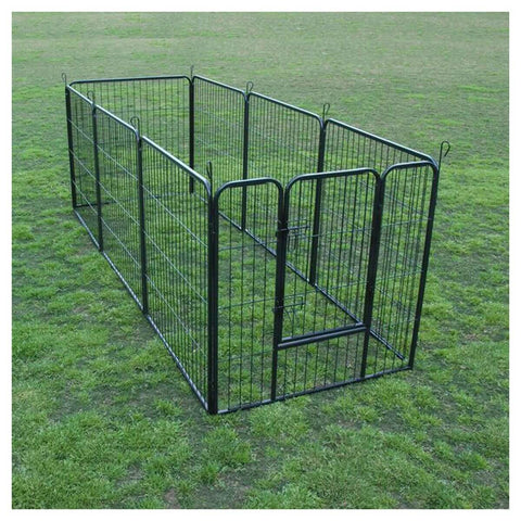 "Image of Extra Heavy Duty 32"" Animal Playpen Durable Extra Heavy Duty Steel Frames Construction With Black Powder Coat Finish Everyday Pets"