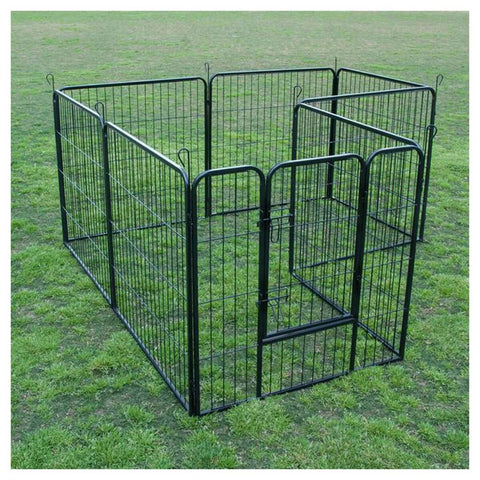 "Image of Extra Heavy Duty 32"" Animal Playpen Multi-Configuration With 8 Panels Everyday Pets"