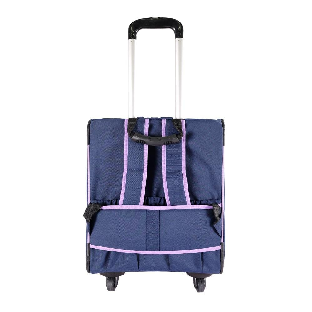 New Liso Backpack Parallel Transport Pet Trolley- Purple/Blue